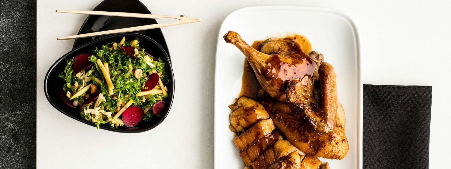 ROAST DUCK WITH A CONTEMPORARY SLAW